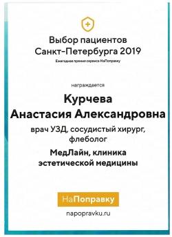 Курчева  Анастасия Александровна - Сертификат